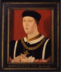 Portrait of Henry VI And here I prophesy: this brawl today,Grown to this faction in the Temple garden, Shall send, between the red rose and the white, A thousand souls to death and deadly night -Warwick anticipating the War of the Roses, between the Houses of Lancaster and York