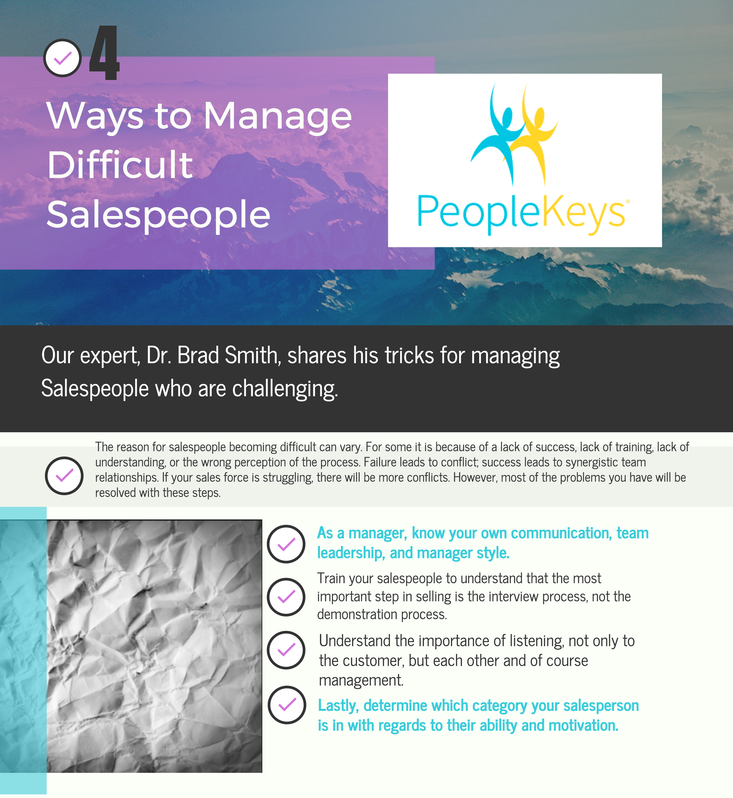 4 Ways to Manage Difficult Salespeople