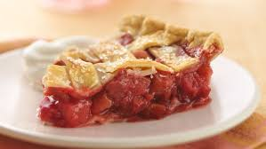strawbery rubard pie